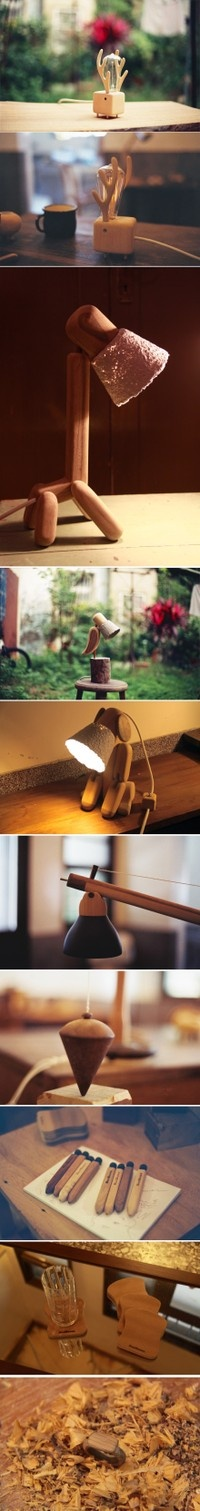 wooden lamps :-)