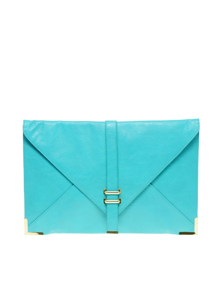 turquoise clutch from asos