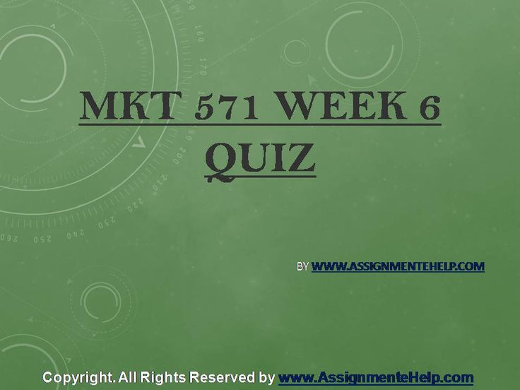 Top your class in just few simple steps be a part of http://www.AssignmenteHelp.com/ and learn courses like MKT 571 Week 6 Quiz Complete Assignment Help. Who says success doesn't come easy? It does. All you want to know is where to be.