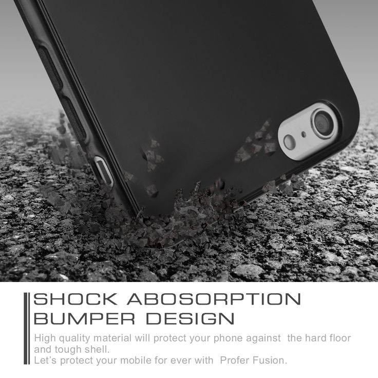 Profergel soft TPU bumper case provides bumper and back protection against impacts, scratches and dust to keep your iphone looking like new. Flexible design makes it super easy to snap-on and remove from your device