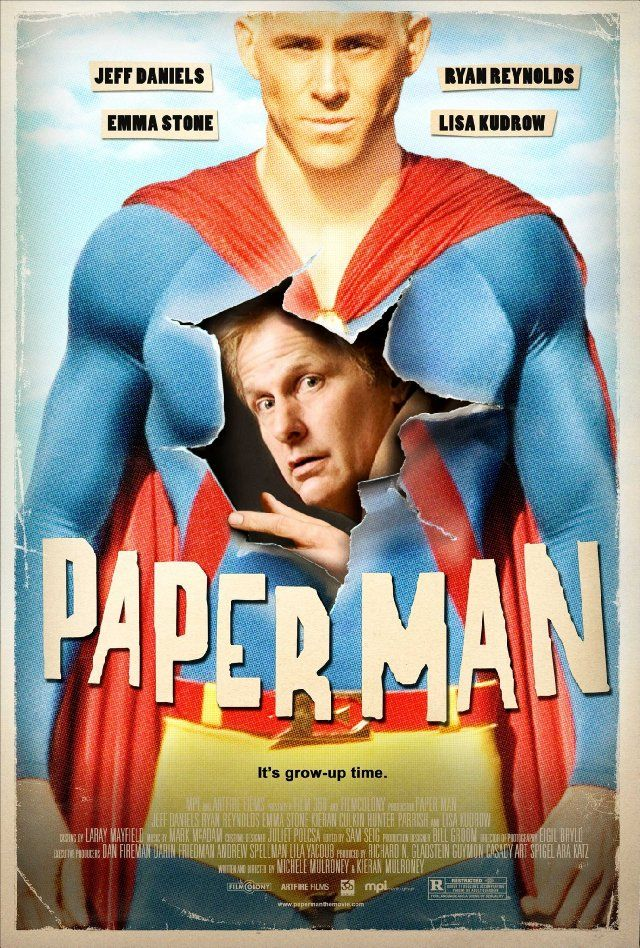 Paper Man (2009) A coming-of-middle-age comedy that chronicles the unlikely friendship between failed author Richard Dunne and a Long Island teen who teaches him a thing or two about growing up, all under the disapproving eye of his long-suffering wife and his imaginary Superhero friend.