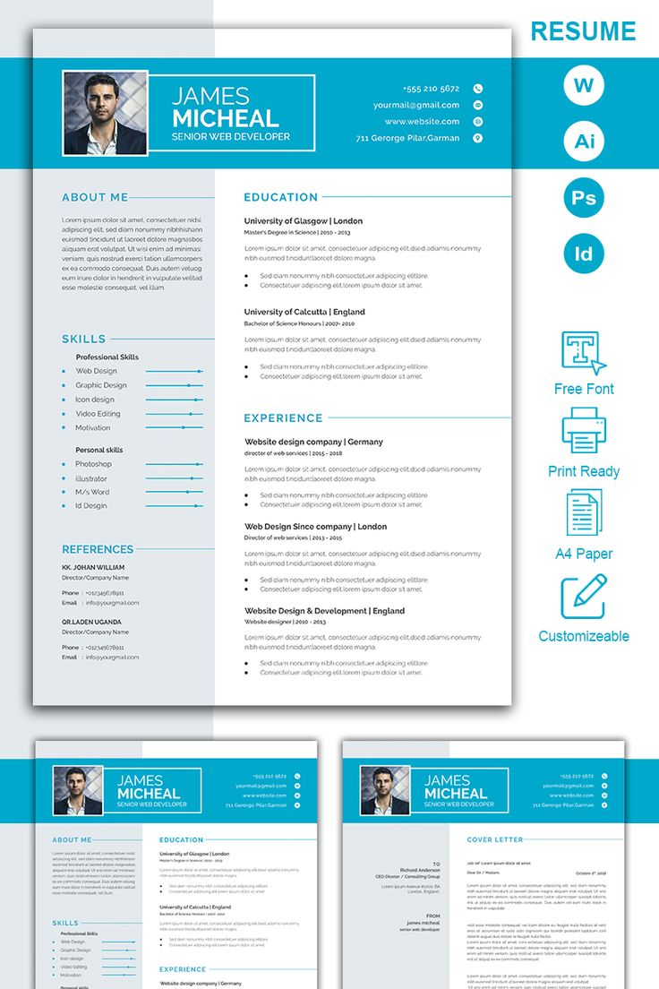 James Micheal Resume Template 98428, Ad Micheal