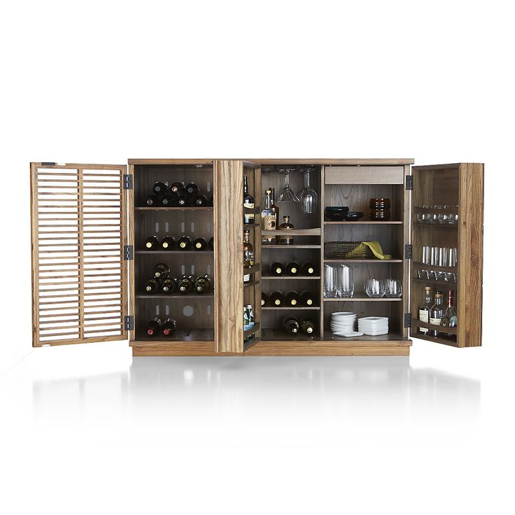 Shop Marin Natural Large Bar/Media Cabinet. This fluid design pairs a fully featured bar with a compact media center.