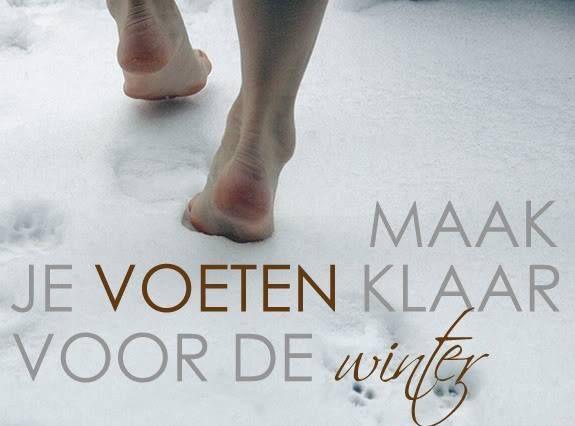 Ook in de winter hebben je voeten verzorging nodig.