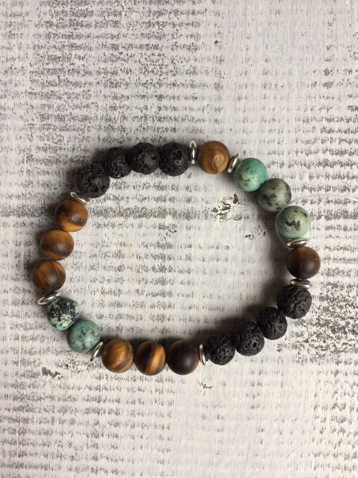 Natural stone and lava stone diffuser bracelet by BarefootCreationsDV on Etsy https://www.etsy.com/ca/listing/490627483/natural-stone-and-lava-stone-diffuser