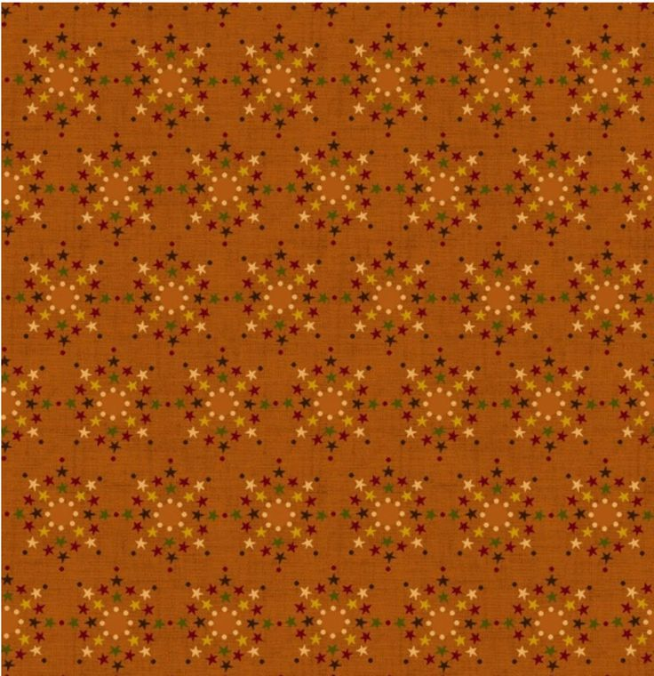 SALE by the yard Welcome Wagon - Stars Orange Fabric by Kim Diehl for Henry Glass - Sold by 1 Yard