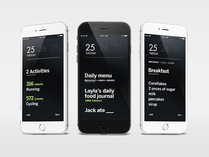 Health and Fitness iphone app  by Igor Ivankovic