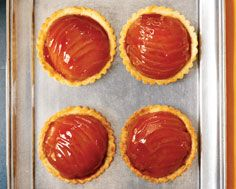 Quince tartlets as one of three desserts @DinnerbyDesign