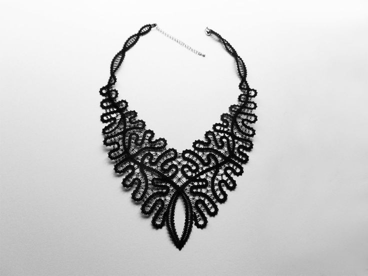 Baroque Black Lace Necklace Rich Statement Extravagant by A5lace