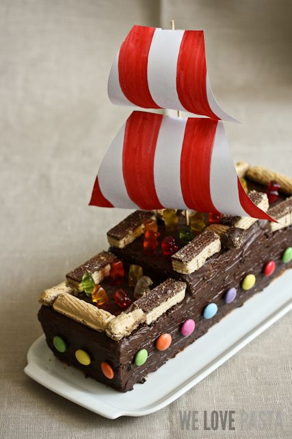 Leinen los: Piratenschiff-Kuchen für kleine und große Kinder