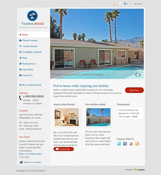 This WordPress real estate theme is built for renting multiple vacation properties, and it comes with built-in ad monetization, a booking system with an availability calendar, a widgetized homepage, Google Maps integration, and more.