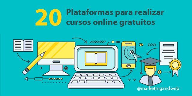 20 Plataformas para realizar Cursos Online Gratuitos http://bit.ly/1LZF1Y8 #educacion #CommunityManager