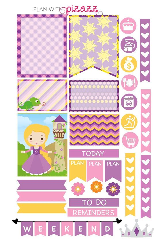 Disney RAPUNZEL Inspired Weekly theme sticker by PlanwithPizazz
