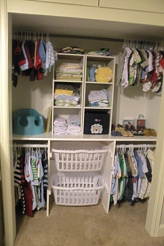 Smart baby closet.