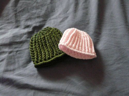 One Day at a Time: Ribbed Crochet Preemie Hat