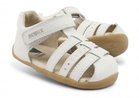 Bobux Step Up Jump White Sandals - Bobux - Little Wanderers