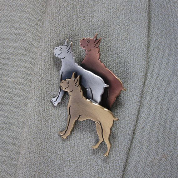 Boxer Brooch- Dog Lover Gift- Dog Breed- Dog Rescue Jewelry