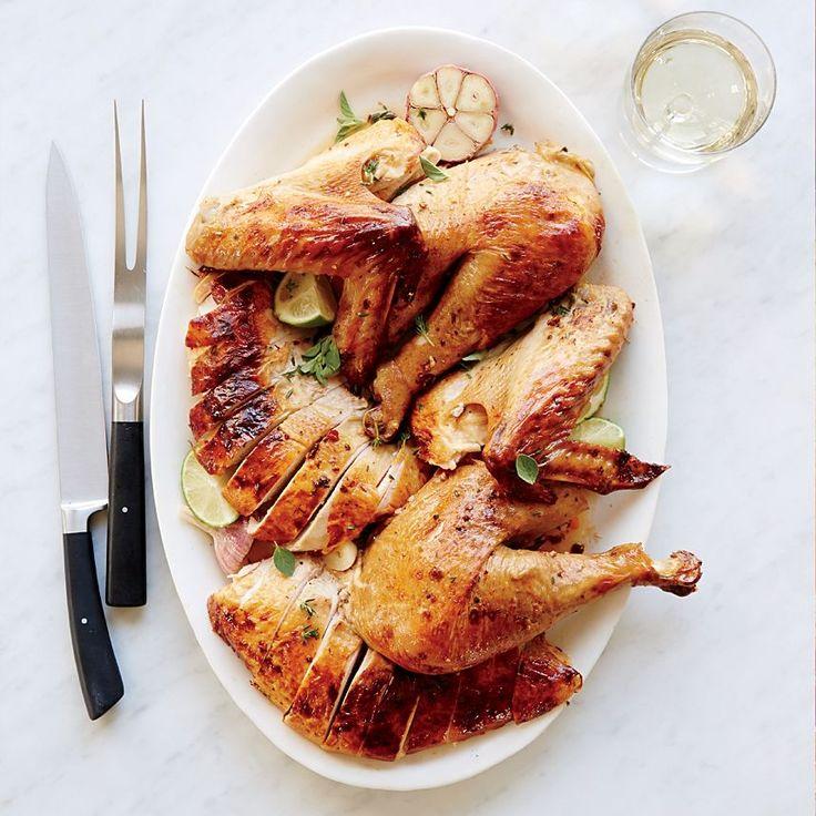 This mega-juicy, supertasty turkey has terrific smoky flavor. Get the recipe at Food & Wine.