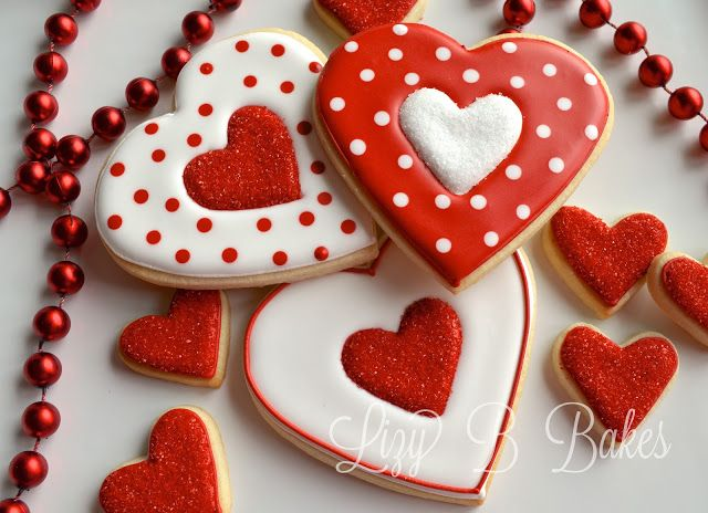 Heart Cookies - by Lizzy B. Bakes