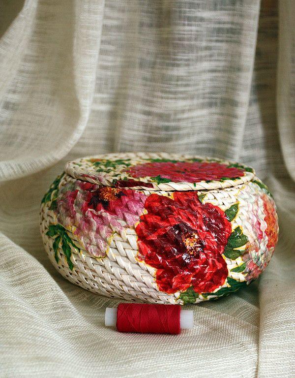 корзинка для рукоделия - Для дома и интерьера. Ярмарка Мастеров - ручная работа, handmade