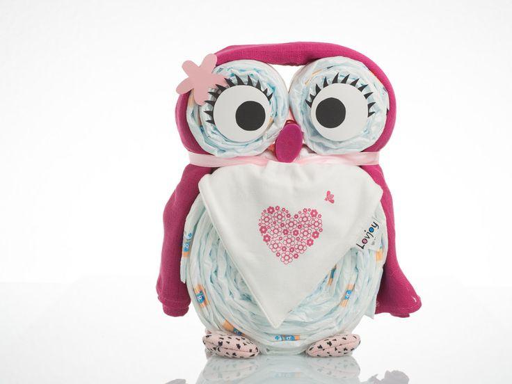 Windeltorten – Windeleule Paula – ein Designerstück von MummyBee bei DaWanda   – Geschenke