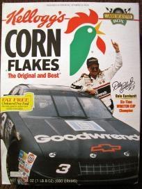 Dale Earnhardt Kellogg's Corn Flake Box
