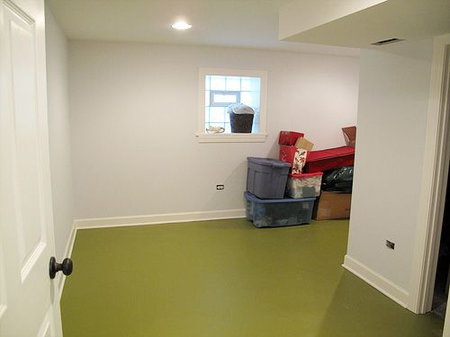 painted floor in the basement