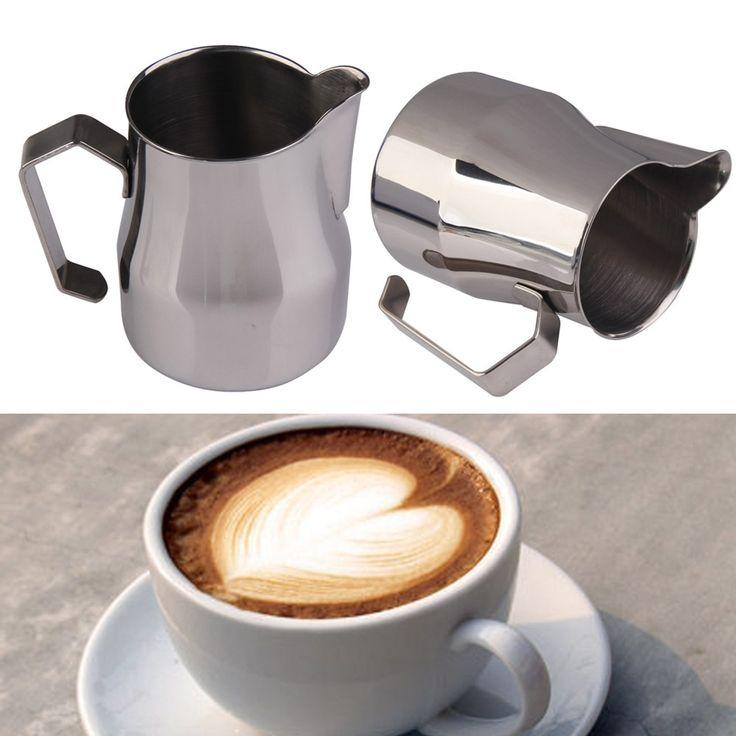 DU#  500CC Stainless Steel Coffee Milk Espresso Latte Frothing Jug Kitchen Home…