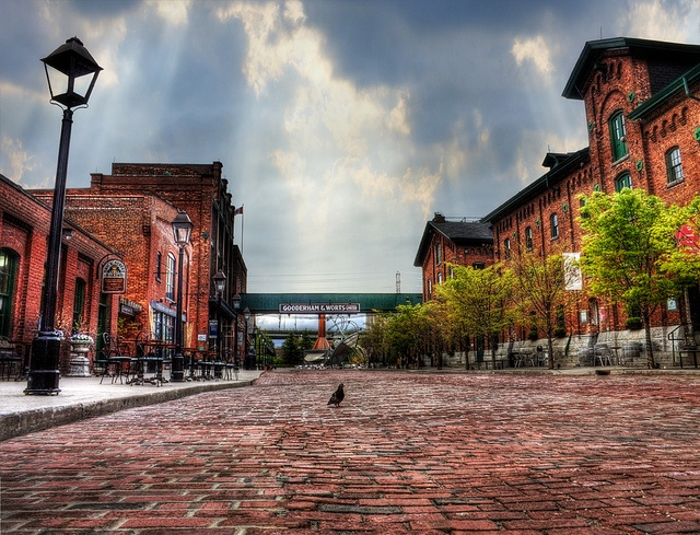 Distillery District, Toronto  Located in downtown Toronto, heading out to the distillery district is a sure-fire way to soak up some Toronto history, check out some awesome art galleries, and eat at some phenomenal restaurants and bakeries.