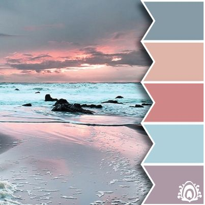 PASTEL SUNRISE - color palette Pastel Feather Studio - not a big pink person, but I loveeee this!