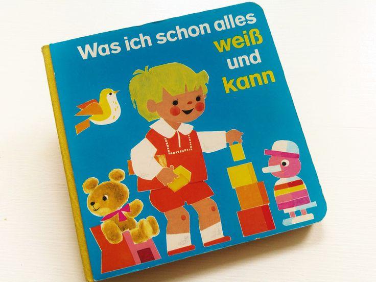 Vintage Kinderbücher - Retro VinTage 70er PESTALOzZi Buch PappBuch Baby - ein Designerstück von LIEBKIND-bremen bei DaWanda