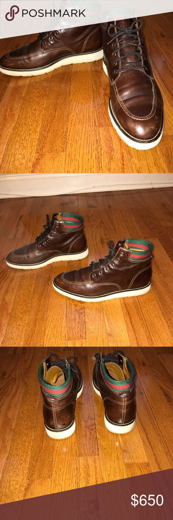 Gucci boots men🔥🔥🔥 Gucci boots SZ 11 1/2, great condition, make me a offer?😊 Gucci Shoes Boots