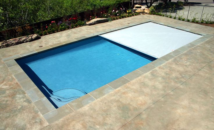 Exactly what I want, including the automatic pool cover!!  Love this simple rectangular design!