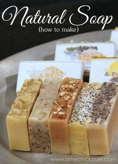 All Natural Soap Making - HOW TO TUTORIAL - artsychicksrule.com #allnaturalsoap #soapmakingtutorial