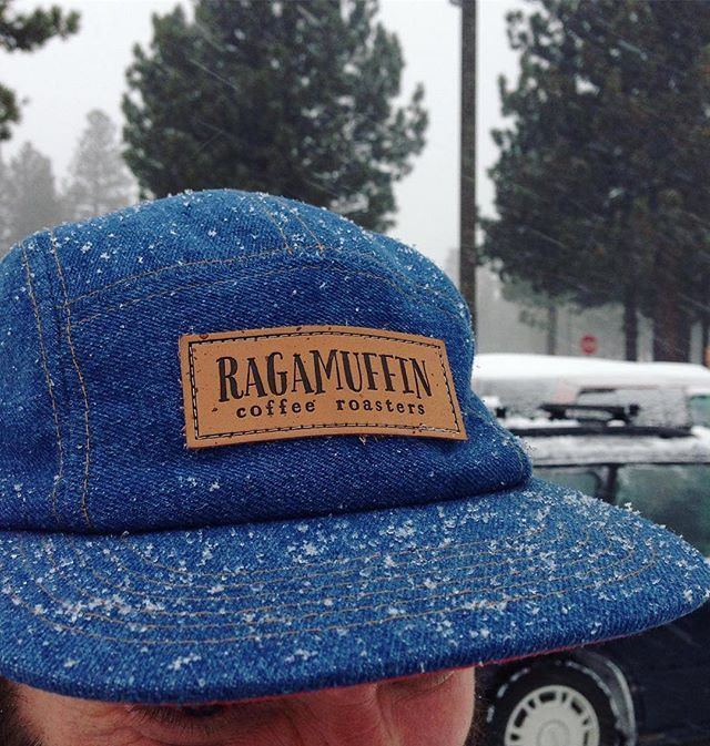 0798e841cef Custom Denim 5 Panel Camper Hats for Ragamuffin Coffee Roasters  ( ragamuffinroast) - - branding includes custom debossed leather patch with…