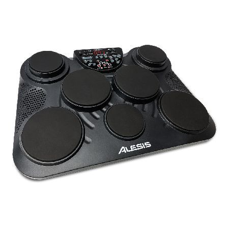 Alesis CompactKit 7 Tabletop Electronics Drum Kit The Alesis CompactKit 7 is a tabletop electronic drum-kit featuring seven velocity-sensitive drum pads that deliver a natural feel and response. The kit features two pedals for hi-hats and kick drums  http://www.MightGet.com/march-2017-1/alesis-compactkit-7-tabletop-electronics-drum-kit.asp