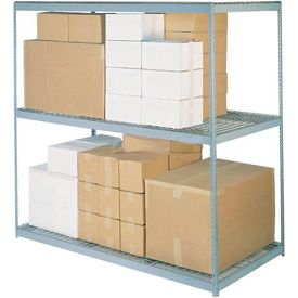 7'H Boltless Wide Span Metal Storage Rack With Wire Deck