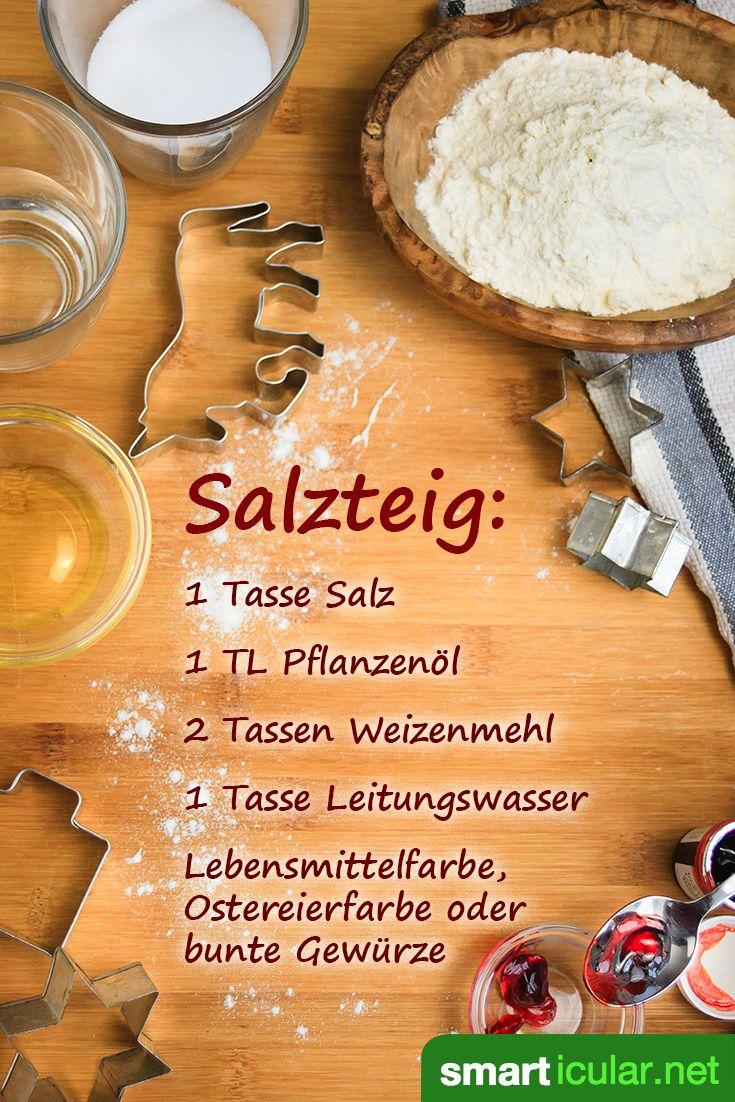 Als umweltfreundliche und preiswerte Bastelmasse ist Salzteig in seiner Vielseitigkeit kaum zu überbieten. Hier findest du das Rezept und viele Basteltipps!