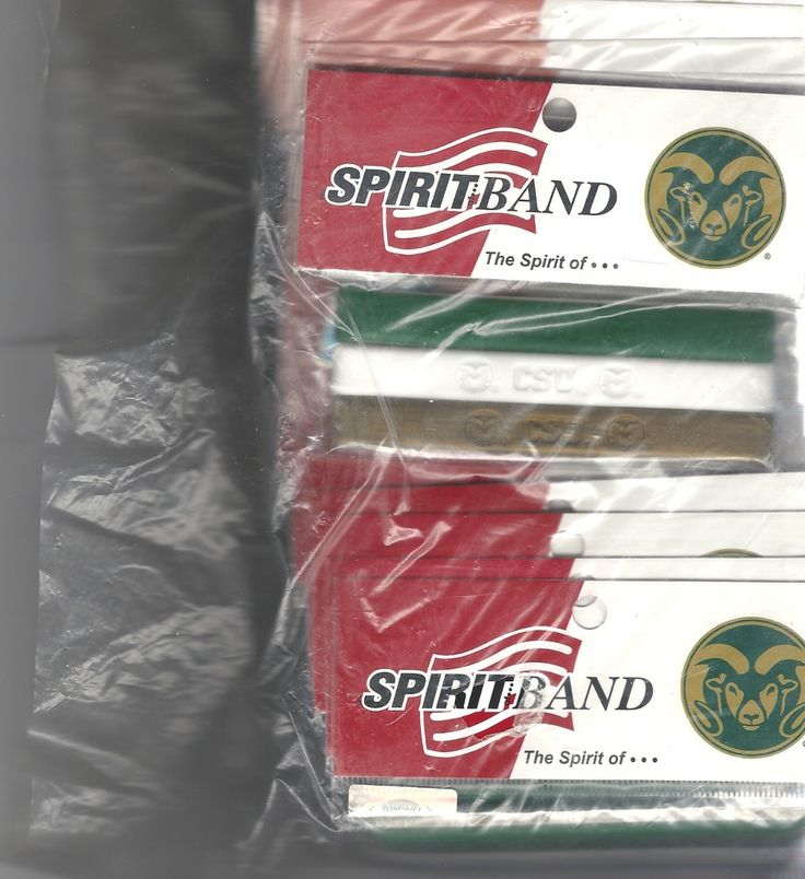 #ColoradoStateUniversity Sheep #Rubber Spirit Band 25 Pack Unisex NWOT