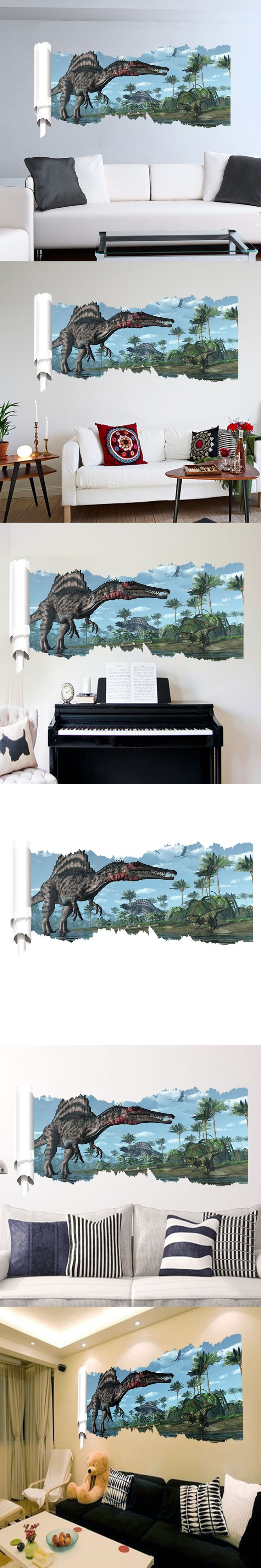 best 25 dinosaur wall stickers ideas on pinterest dinosaur wall cool dinosaur wall stickers art decals mural wallpaper decor home room diy decoration home decoration adesivo de parede