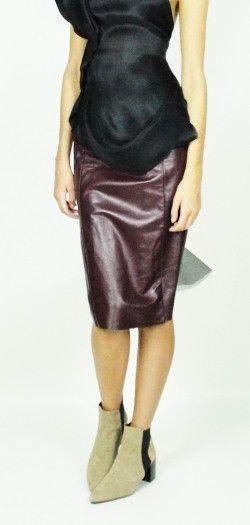Kirsty Doyle/Nicol Leather panel skirt #aw13