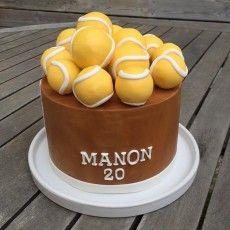 Cake design  Anniversaire sur le thème du Tennis