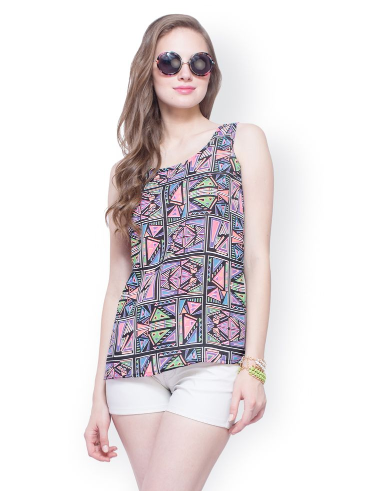 Buy FabAlley Women Multi Coloured Printed Top - 310 - Apparel for Women from FabAlley at Rs. 650