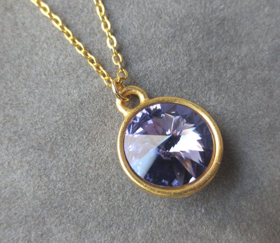 Gold Tanzanite Necklace, December Birthstone Jewelry, December Tanzanite Jewelry, Birthstone Necklace on Etsy, $24.00