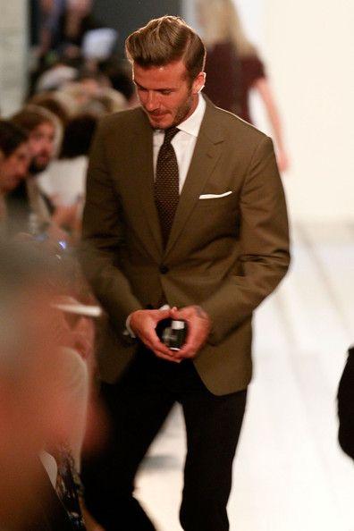 David Beckham Photos - Victoria Beckham - Presentation - Spring 2013 Mercedes-Benz Fashion Week - Zimbio