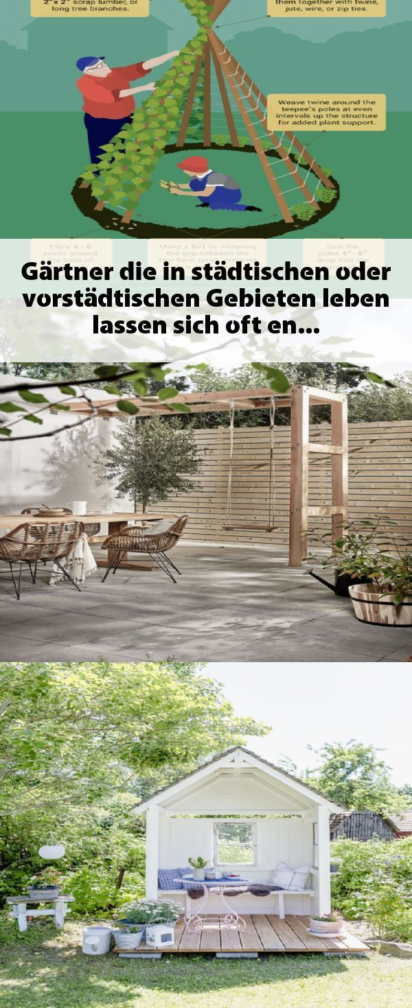 Gärtner, die in städtischen oder vorstädtischen Gebieten leben, lassen sich o…
