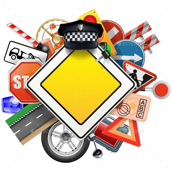 Road Signs with Car Parts by dashadima Folder include EPS10, Ai and JPG files. EPS10, Ai files can edit in Adobe Illustrator CS5, CS5.5, CS6 and CS. 100 Vector. Vector