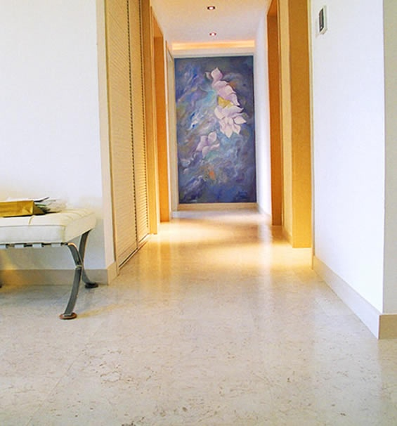 Oh I am loving this White Cork flooring