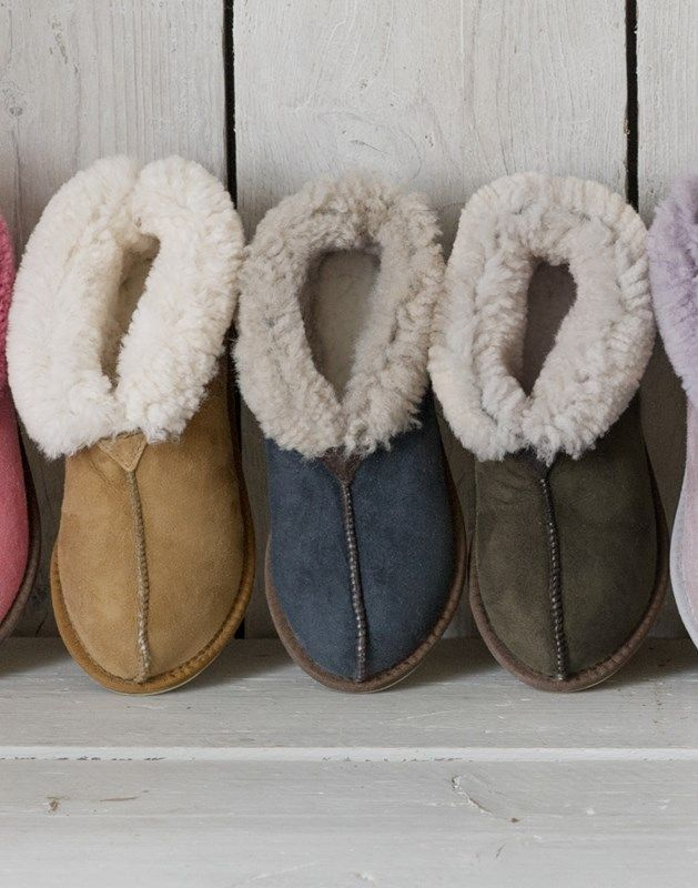 Ladies' Sheepskin Bootee Slippers | Ladies Sheepskin Slippers