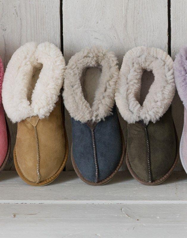 Ladies' Sheepskin Bootee Slippers   Ladies Sheepskin Slippers